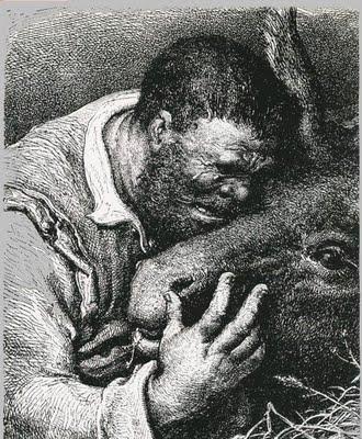 Sancho Panza y el burro